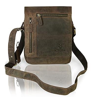 Goatter Men's Hunter Leather Messenger Bags,