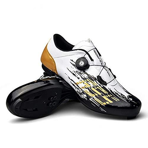 Zapatillas de Ciclismo de Carretera para Hombre - Zapatillas de Spinning con Zapatilla Peloton con Tacos compatibles con SPD y Delta para Hombre Zapatillas de Bicicleta con Pedal de Bloqueo