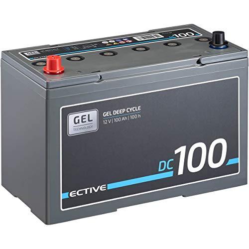 ECTIVE 100Ah 12V Gel Versorgungsbatterie DC 100 Deep Cycle Solar-Batterie VRLA Zyklenfest (wartungsfrei)