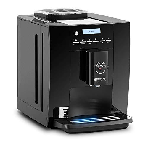 Royal Catering RC-FACM ekspres do kawy do 250 g ziarna ziarna spieniacz do mleka 1,8 l zbiornik na wodę ekspres do kawy