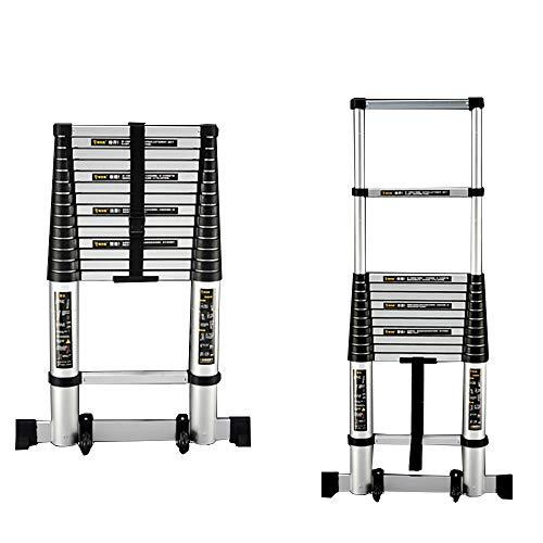XUQIANG Multi-purpose Folding Ladder, 6,5-foot-13.4-voet Aluminium Telescopische Ladder, 330 Lb Capaciteit badkamer stoel (Size : 2.6m(8.5ft))