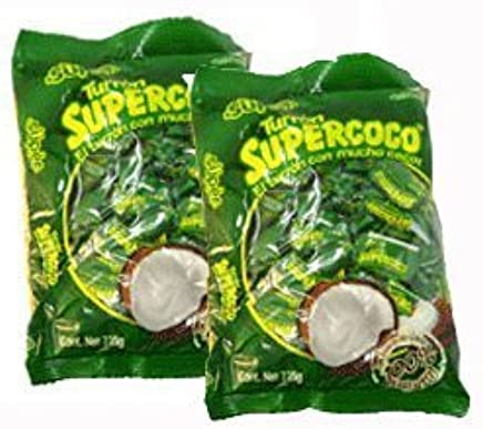 Amazon.com : Supercoco Turron Con Mucho Coco 400 Gr. 2-pack : Candy ...