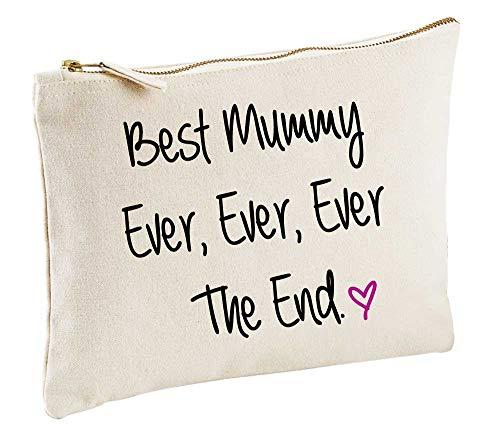 meilleur Mummy Jamais Jamais Jamais The End naturel Trousse de Maquillage cadeau idée Sac maquillage articles de toilette fête des mères