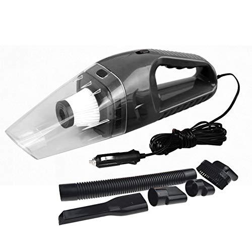 Eletam Aspirador de Coche portátil de 120 W y 12 V, Mini aspiradora de Mano, súper succión, Cable de 5 m, Doble Uso en seco y húmedo