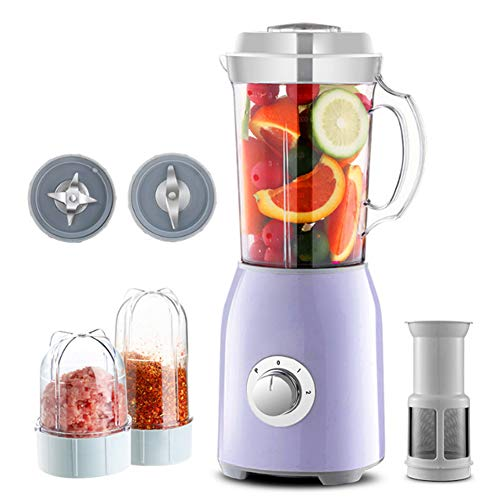 Multi Blender juicer Food Processor, Electric Blender eenvoudig te reinigen met stille motor BPA-vrij voor Sappen Ice Crushing Smoothie Maker,Purple