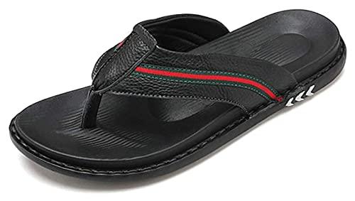 AMDHZ Zapatillas de baño Zapatos de Sandalias Casuales Resistentes al Desgaste del Verano Antideslizantes para Hombres Zapatillas de Verano (Color : Black, Size : 39 EU)