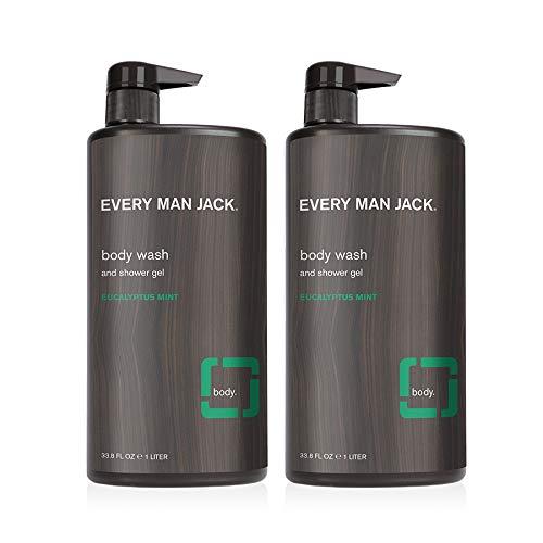 Every Man Jack Mens Body Wash - Eucalyptus   Hydrating for Sensitive...