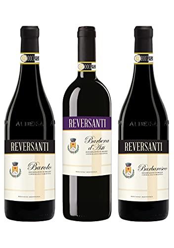 Cassa mista vini rossi – Barolo Barbaresco Barbera – 3 Bottiglie – 0,75L