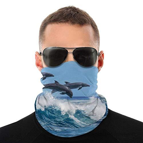 Lzz-Shop Bandanas multifuncionales Dolphin Personalizadas y pasamontañas Antipolvo