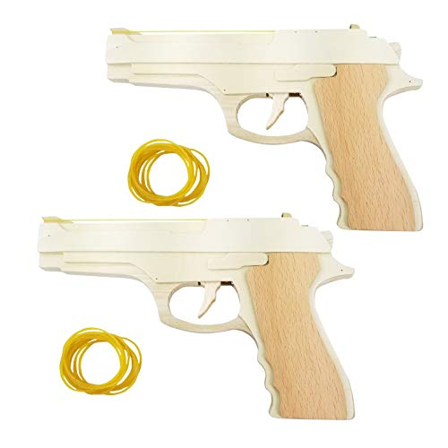Adventure Awaits! 1911 Style Rubber Band Guns 2-Pack