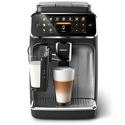 Philips 4300 Series EP4346/70 Fully Automatic Espresso Machine, 8 coffee specialties, LatteGo Milk Solution, Intuitive Display