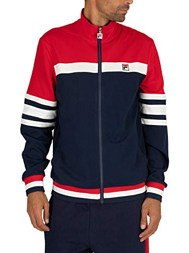 Fila Courto Cut and Sow Archive Track Top Peacoat/Chinese Red/White Small