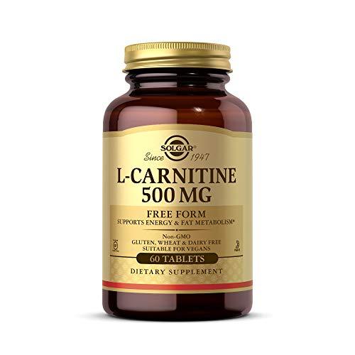 Solgar L-Carnitina Comprimidos de 500 mg, Envase de 60