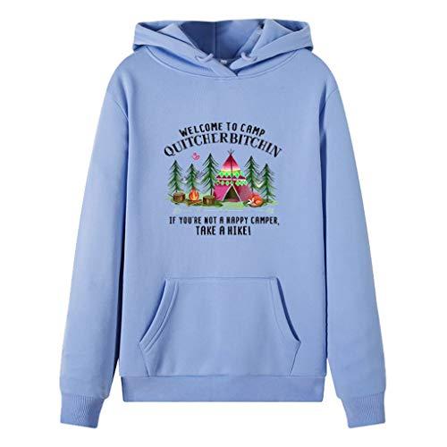 ZuzongYr - Sudadera para mujer con capucha y manga larga para Navidad Azul cielo 3 L