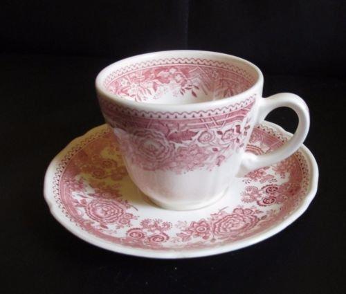 Villeroy & Boch Burgenland rot: Kaffeetasse / Tasse mit Unterteller