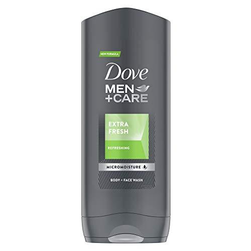 Dove Men+ Care Extra Fresh Gel de ducha, cuerpo y cara para hombre, 400ml (pack de 3 unidades)