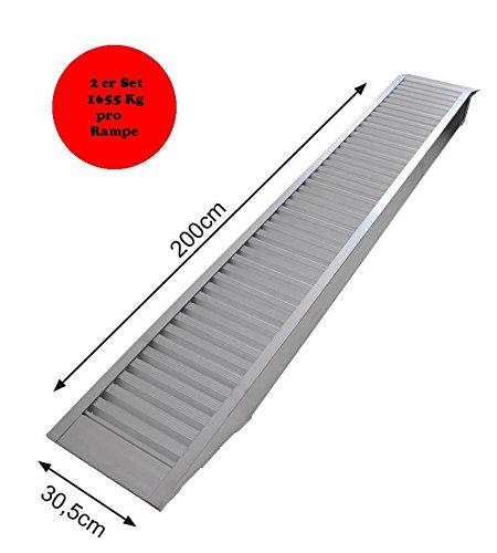 2x Rampa aluminio auffahr Carril verlader Ampe 1655/3310kg