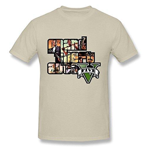 maikeer Men's GTA 5 Grand Theft Auto V O-Neck T-Shirt