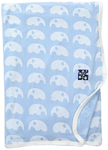 KicKee Pants Print Swaddling Blanket (Pond Elephant - One Size)