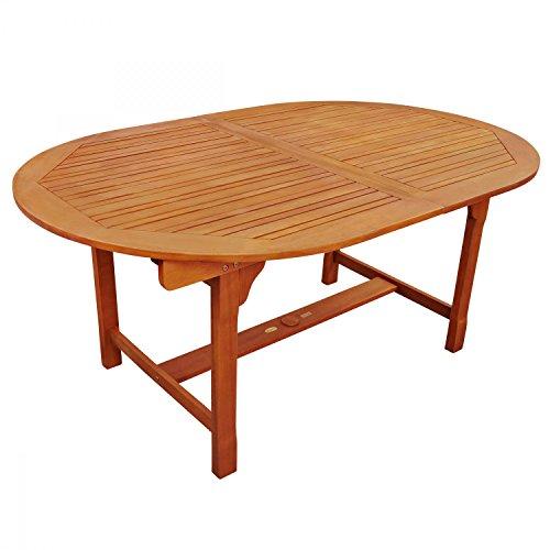 indoba Gartentisch Flair-Oval, ausziehbar-Serie Sun Flair-IND-70001-TI Table de Jardin, Marron, 220 x 110 x 74 cm