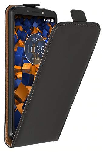 mumbi Tasche Flip Hülle kompatibel mit Motorola Moto G6 Play Hülle Handytasche Hülle Wallet, schwarz
