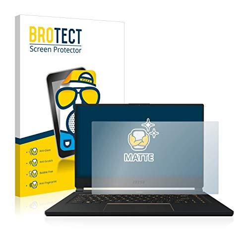 BROTECT Entspiegelungs-Schutzfolie kompatibel mit MSI GS66 Stealth 10 SE Bildschirmschutz-Folie Matt, Anti-Reflex, Anti-Fingerprint