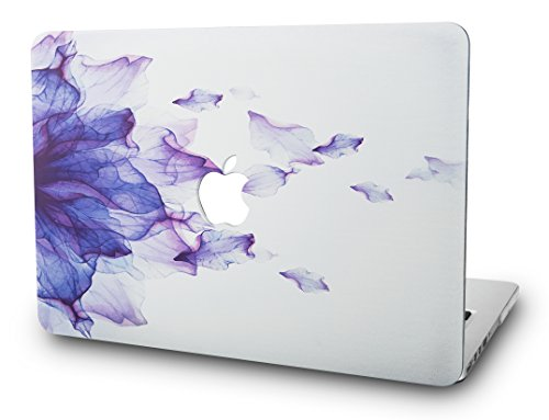 KECC Hülle für MacBook Pro 13 (2020/2019/2018/2017/2016, Touch Bar) Schutzhülle Case Cover MacBook Pro 13.3 {A2289/A2251/A2159/A1989/A1706/A1708} (Lila Blume)