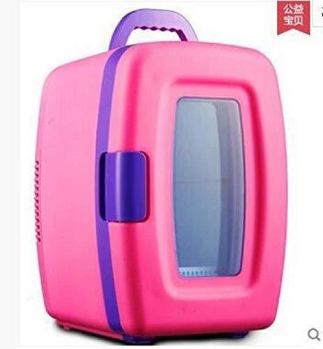 KYLIN 10L Auto Dual-Use-Auto-Kühlschrank Mini-Kühlschrank Schlaf Mini-Kasten-Droge Kosmetik Kühlschrank (Color : Pink)