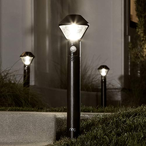 Ring Smart Lighting – Pathlight, Battery-Powered, Outdoor Motion-Sensor Security Light, Black (Starter Kit: 2-pack)