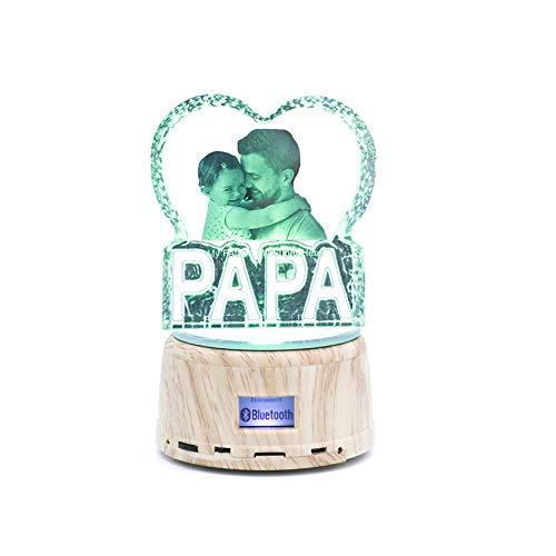Benutzerdefinierte Foto LED Nachtlicht Kristall 3D Fotolampe Musik abspielen Bluetooth Lampe Personalisierte Geschenke Weihnachtslicht