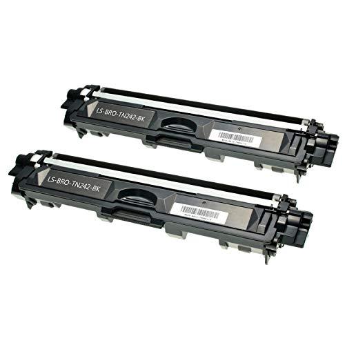 Logic-Seek 2 Toner kompatibel für Brother TN-242K HL-3142 3152 3172 CW CDW - DCP9017CDW - Schwarz je 2.500 Seiten
