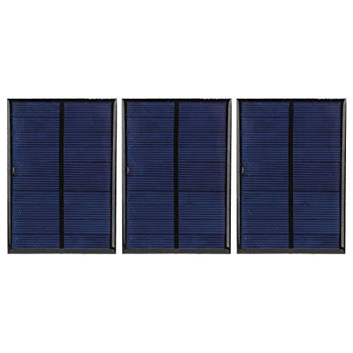 Panel Solar, Panel Solar Epoxi de 3 Piezas, Panel Solar Portátil Actualizado, Módulo de Energía de Celda, Placa de Módulo de Energía Pequeña + 30 CM Rojo y Línea Negra 5 V 200 mA