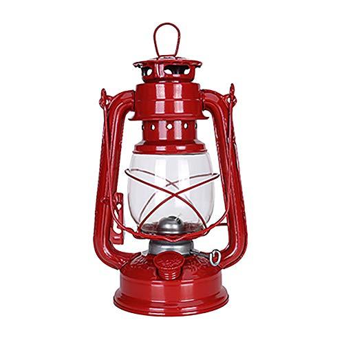N / A Lámpara de Aceite Lámpara de Aceite de Vidrio Lámpara de Aceite de Mesa Retro Transparente Lámpara de Emergencia para el hogar Lámpara de Camping de Vidrio a Prueba de Viento al Aire Libre