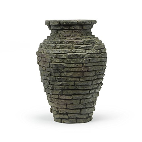 Aquascape 58014 Landscape and Garden, Mini Stacked Slate Urn Water Fountain