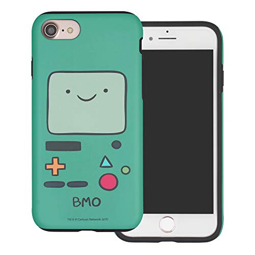Compatible with iPhone SE 2020 / iPhone 8 / iPhone 7 Case (4.7inch) Adventure Time Layered Hybrid [TPU + PC] Bumper Cover - Beemo (BMO)
