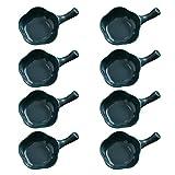 Cabilock 8Pcs di Chip E Dip Ciotole di Plastica Antipasto Spuntino Che Serve Piatti Ketchup Piattino con Maniglia
