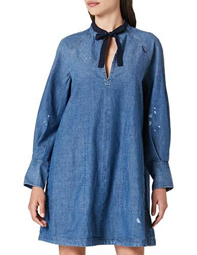 G-STAR RAW Womens Tunic V-Neck, Faded Aegean Blue C611-C245, L