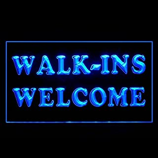 120017 Walk-Ins Welcome Barber Shop DVD Store Display LED Light Sign