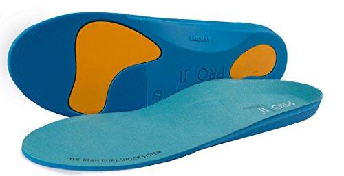 TITAN Sport-Einlagen/Orthopädische Einlegesohle mit Dual Shock balance Korrektur und robust, für über pronation und Fersensporn, Blau, Gr. 36/37 EU XS