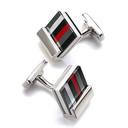 XIAMAZ Classic Design Square Shell Cufflinks Men Multicolor Puzzel Cufflinks Groom Wedding Dress Cufflinks