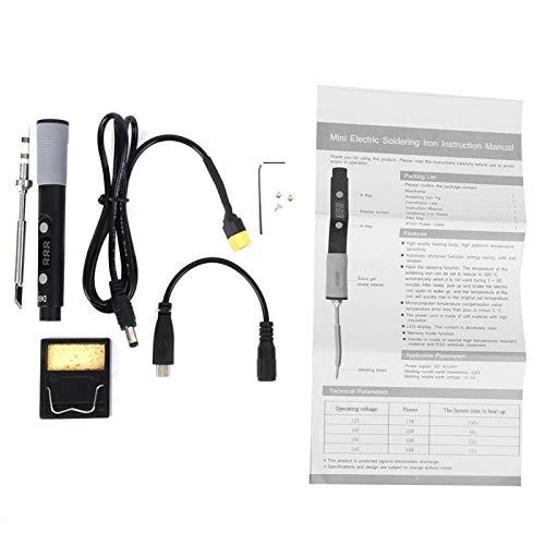 Soldador eléctrico Herramienta de soldadura de temperatura ajustable Kit de soldador Electrónica 100-400 grados SQ-D60B