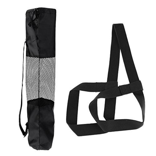 SM SunniMix 1x Correa de Transporte Ajustable para Esterillas de Yoga + 1x Bolsa de Almacenamiento para Esterillas de Yoga