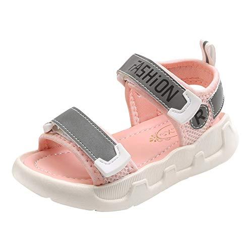 Julhold Sandalias deportivas para niños y niñas, para verano, para niños y niñas, zapatos de playa, color Rosa, talla 29 EU