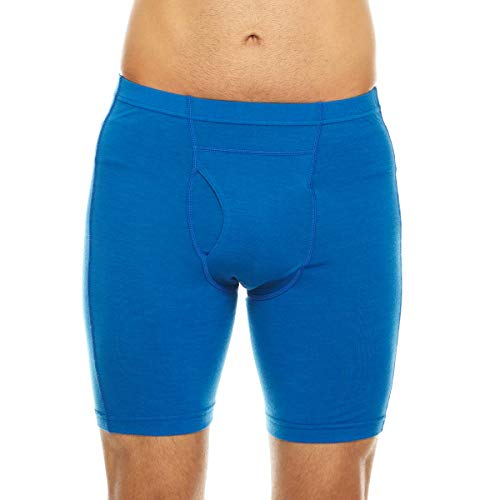 Minus33 Merino Wool 702 Acadian Men's Lightweight Boxer Brief Azure Blue Large