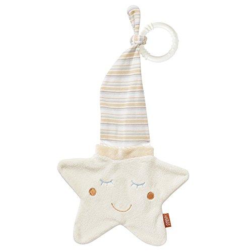 Fehn 160307 snoepdoekje, snoepdoekje met teddykopje om te grijpen, voelen, knuffelen en liefhebbers voor baby's en peuters vanaf 0 maanden ster. ster