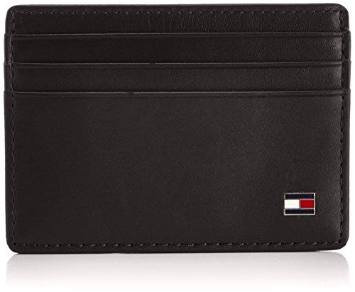 Tommy Hilfiger Eton, Porta Documenti e Carte di Credito Uomo, Nero (Schwarz (Black 990)), 10 x 7 x 1 cm (L x A x P)