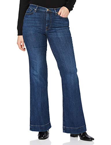 7 For All Mankind Modern Dojo Jeans, Blu Scuro, 38 Donna