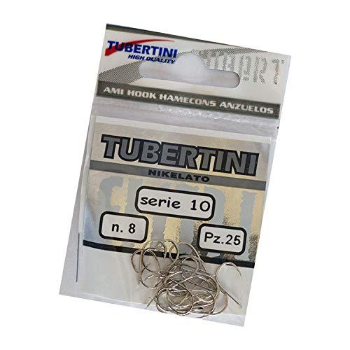 Tubertini série 10 Nickel truite taille 8 crochets 4303008