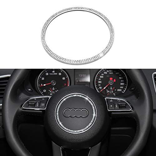 Senauto Bling Steering Wheel Center Cover Trim Decoration for Audi (Round)