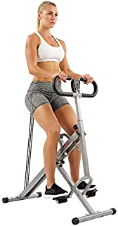 Sunny Health & Fitness Squat Assist Row-N-Ride Trainer...